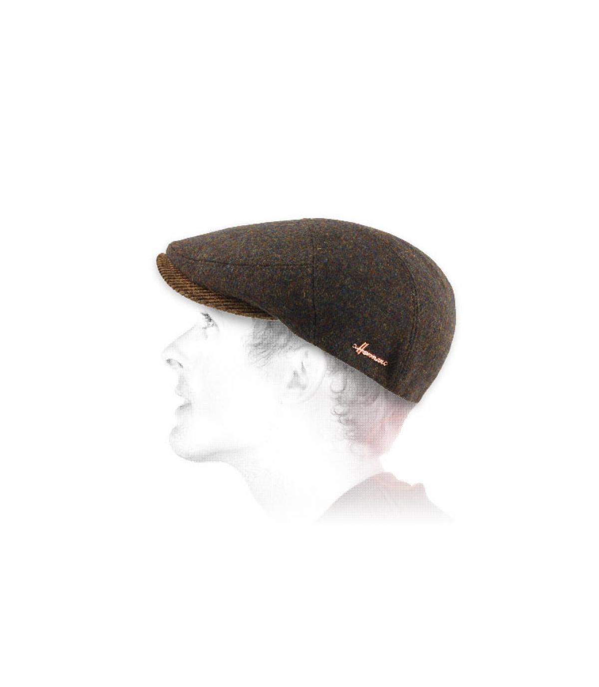 boina de lana marrón