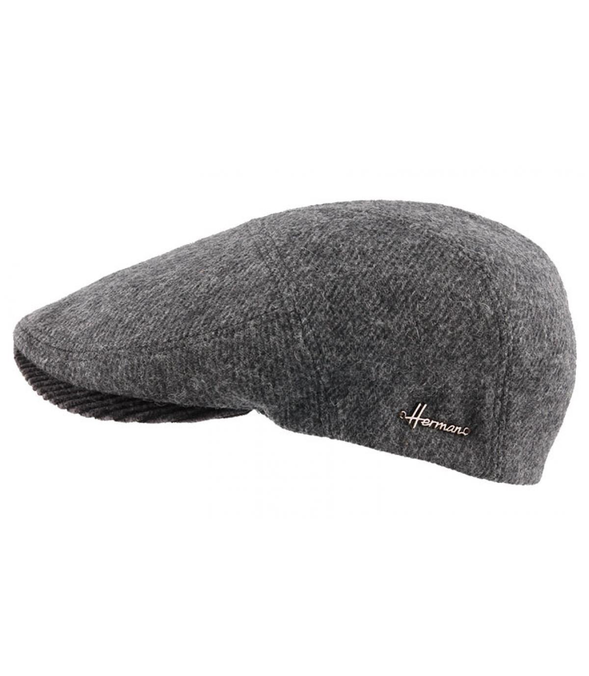 gris boina de lana