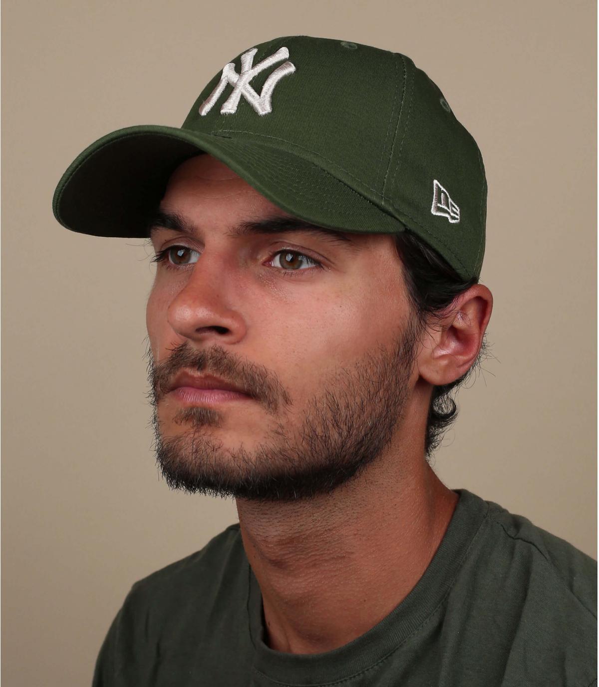 gorra NY verde gris
