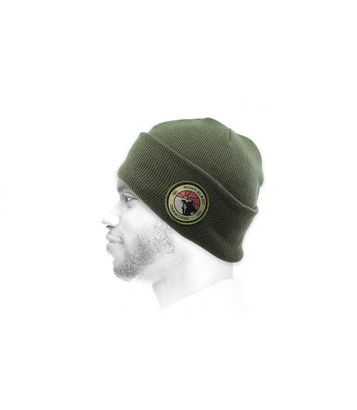 bonnet mont blanc vert