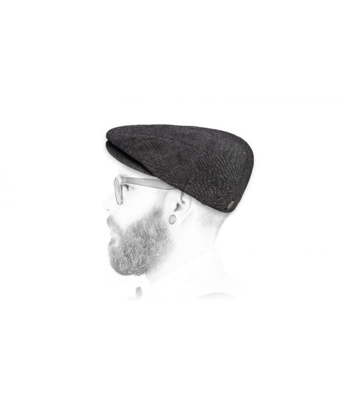gorra negra lino Brixton