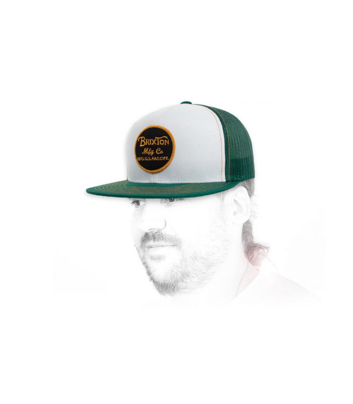 trucker blanco verde Brixton