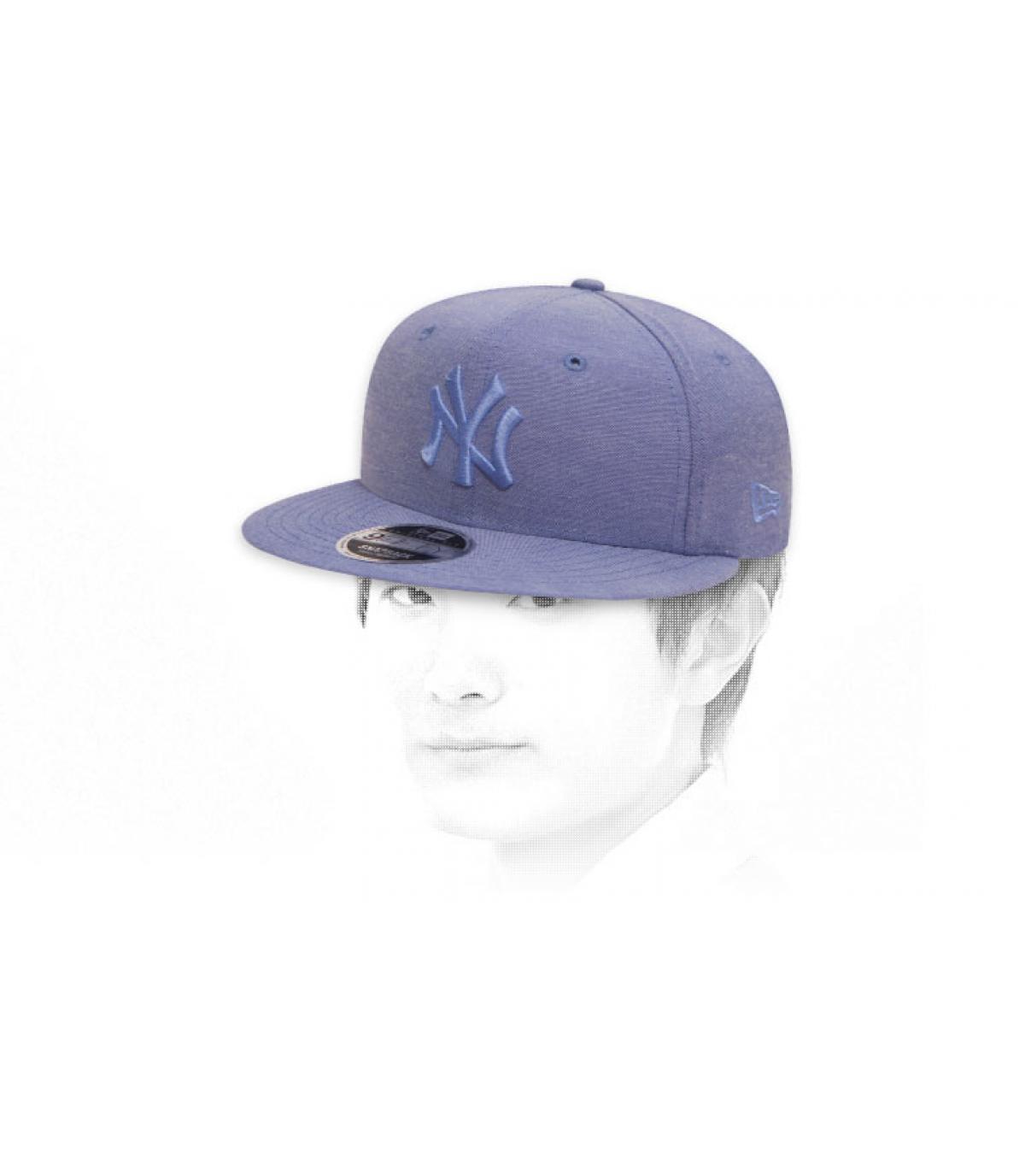 snapback NY azul claro