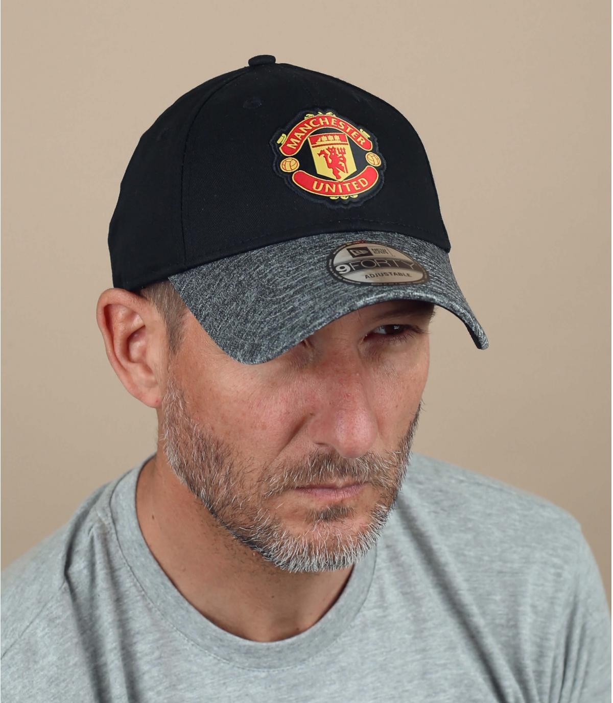 gorra Manchester negro gris