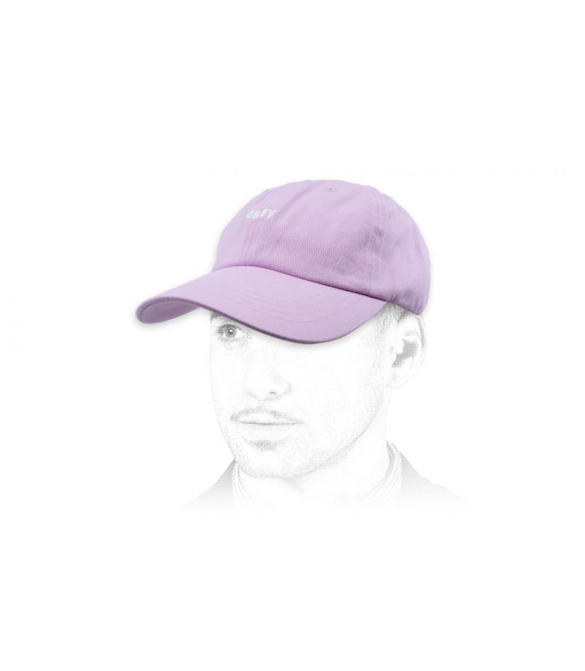 gorra curva rosa Obey