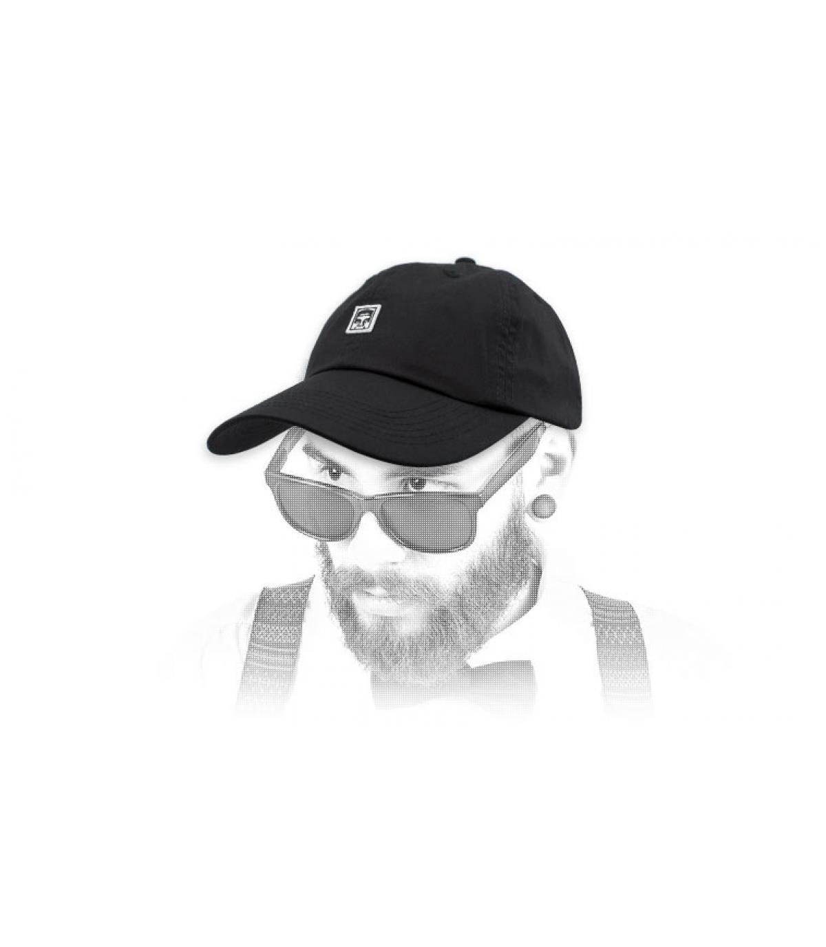 gorra negro Obey gigante