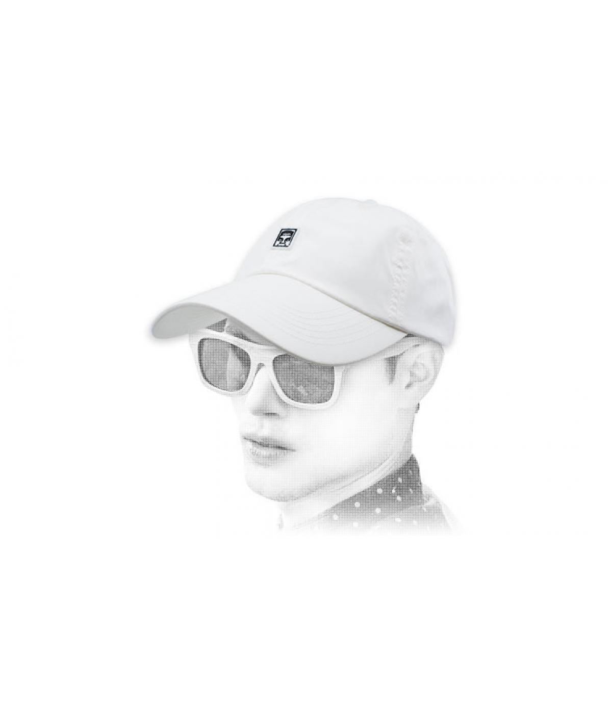 gorra blanco Obey gigante