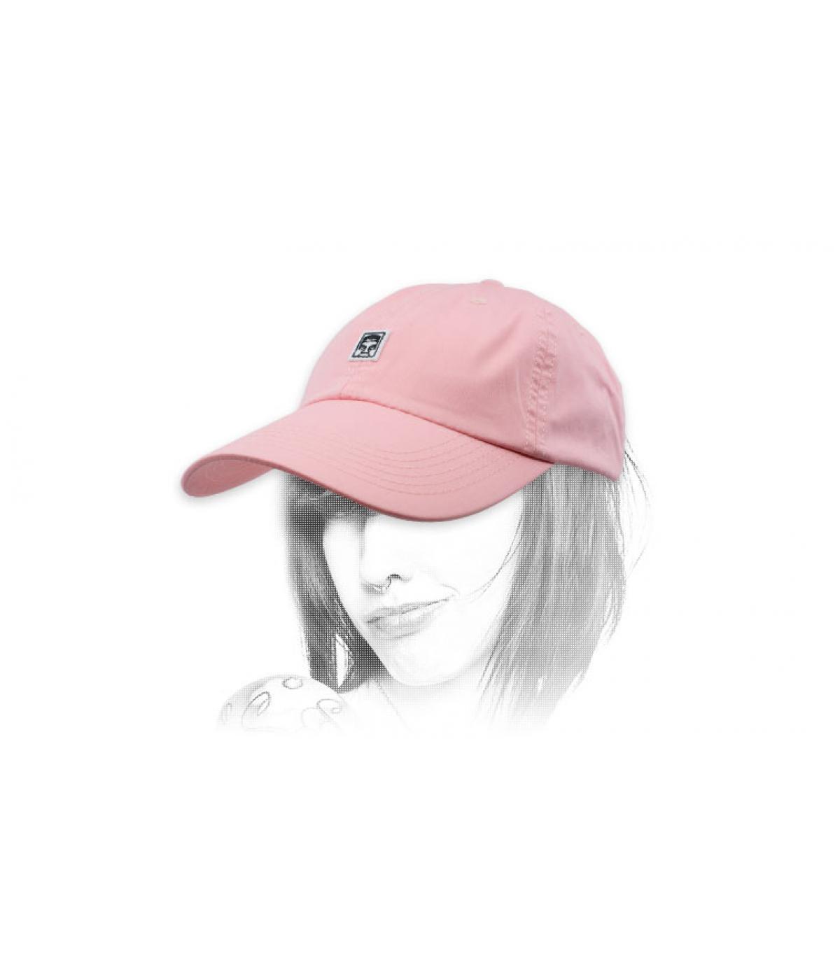 gorra rosa Obey gigante