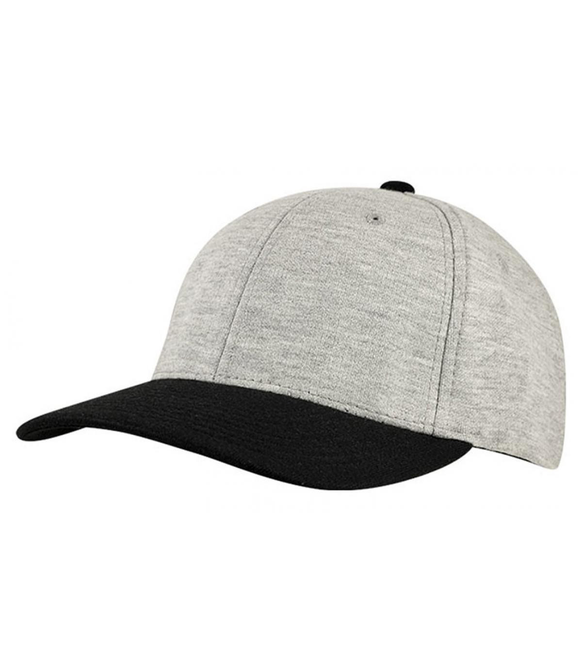Gorra jersey grise negro