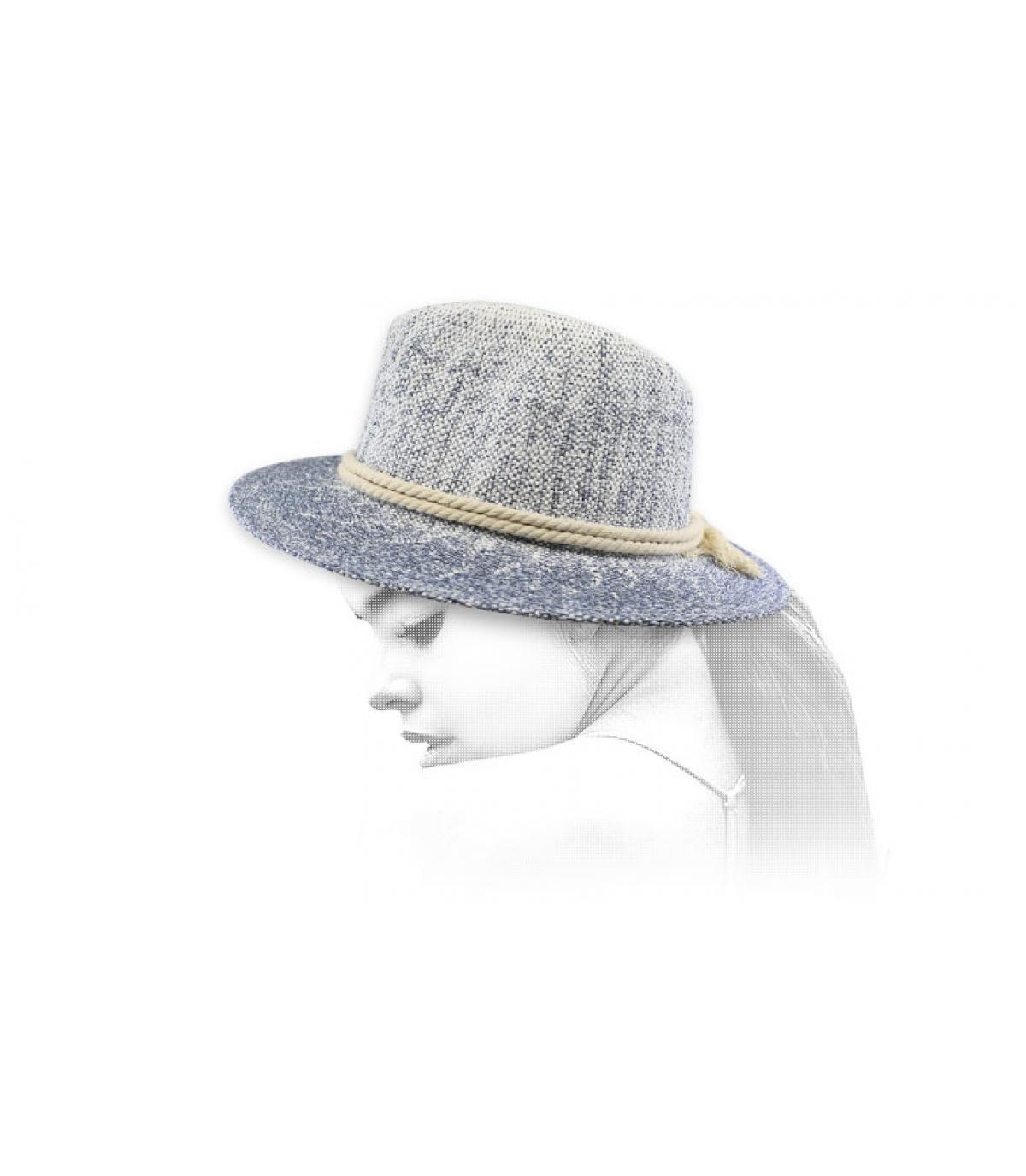 sombrero paja cuerda