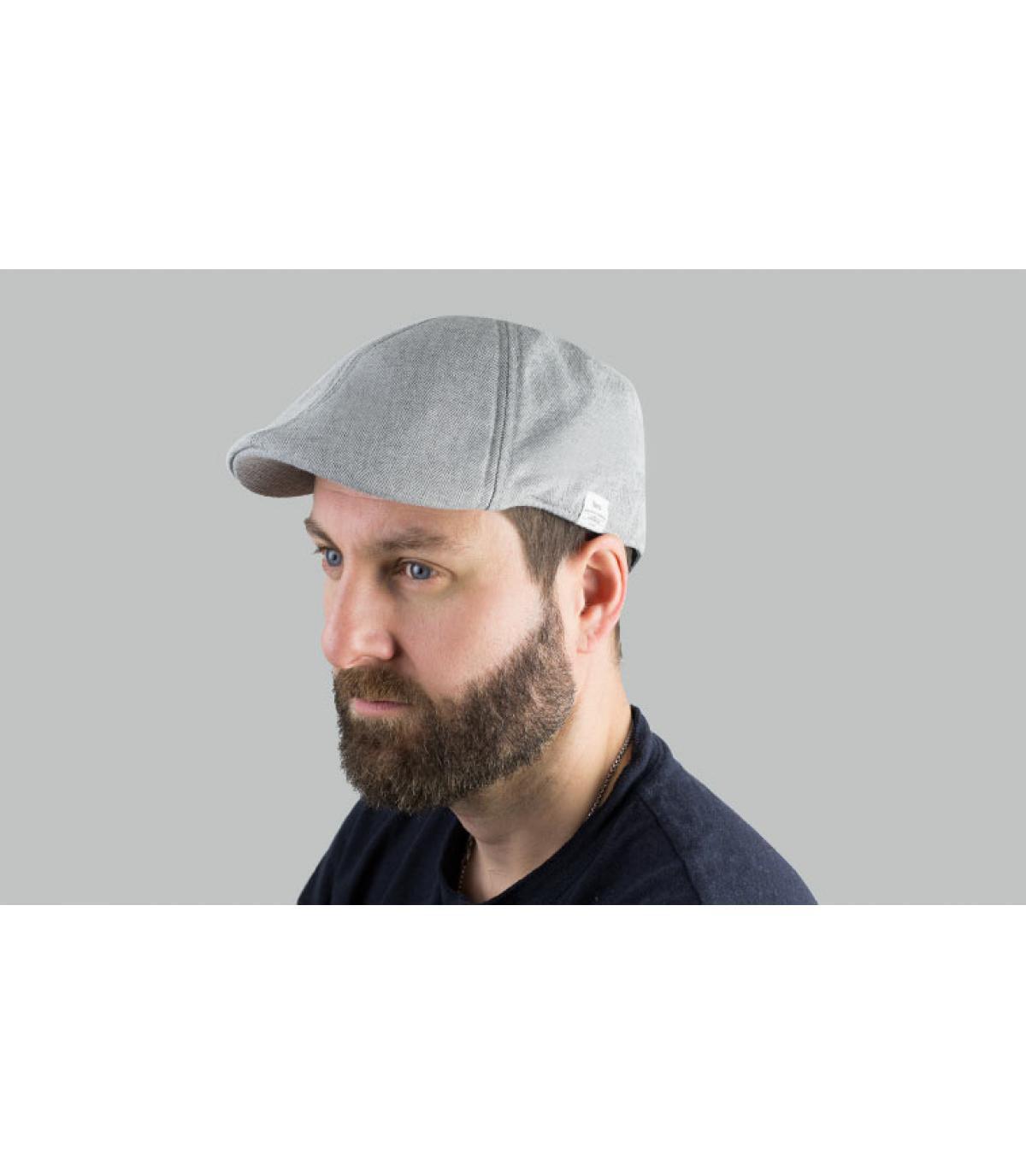 gorra duckbill algodón gris