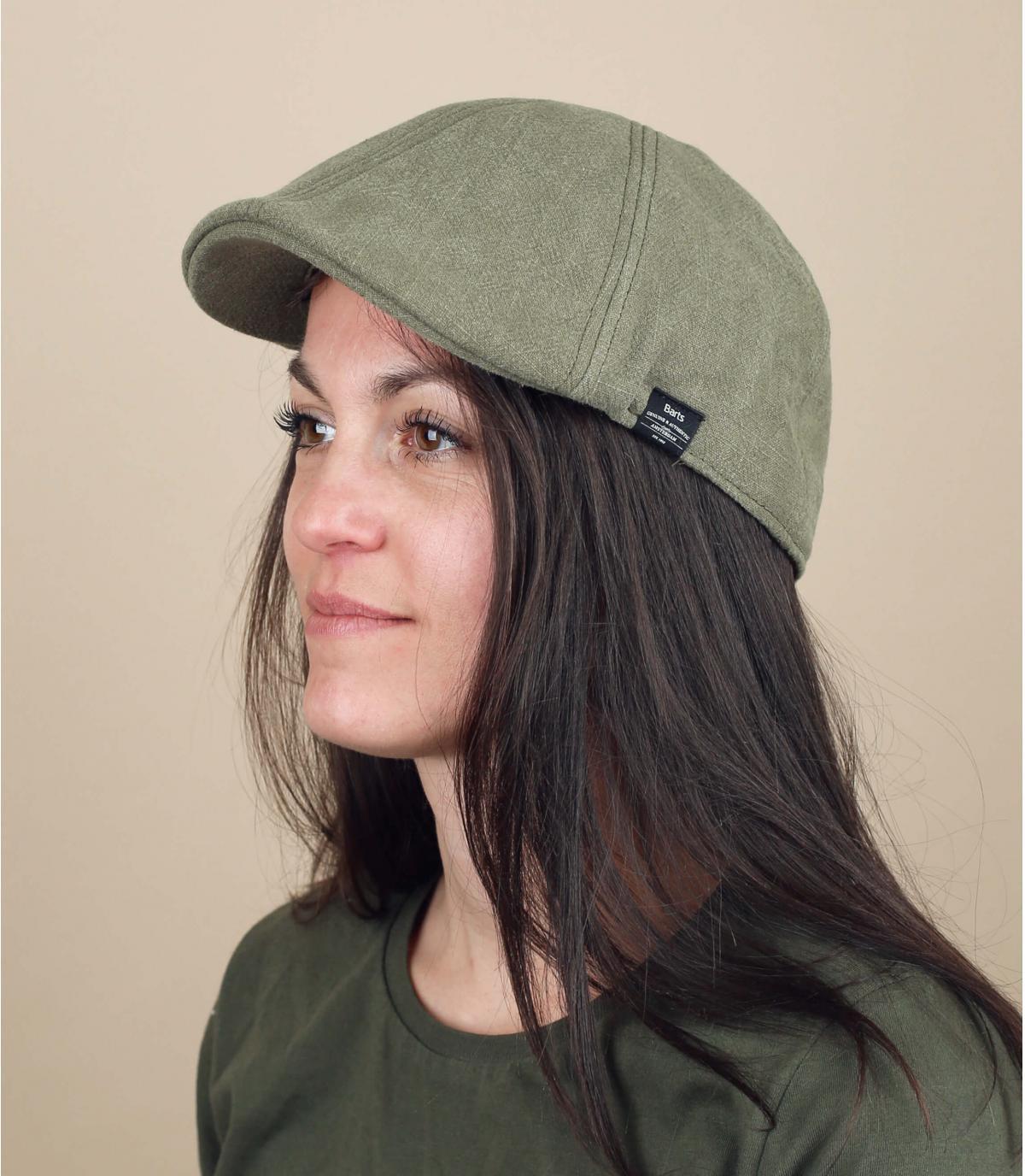 gorra duckbill algodón verde