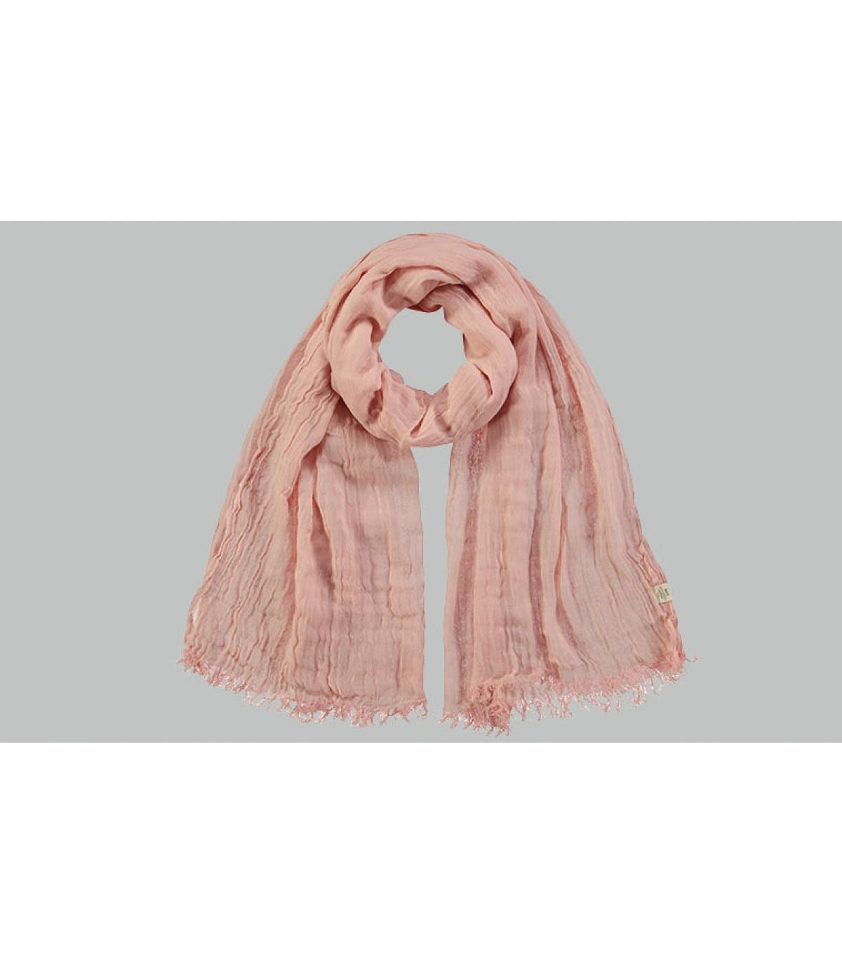 fular algodón rosa