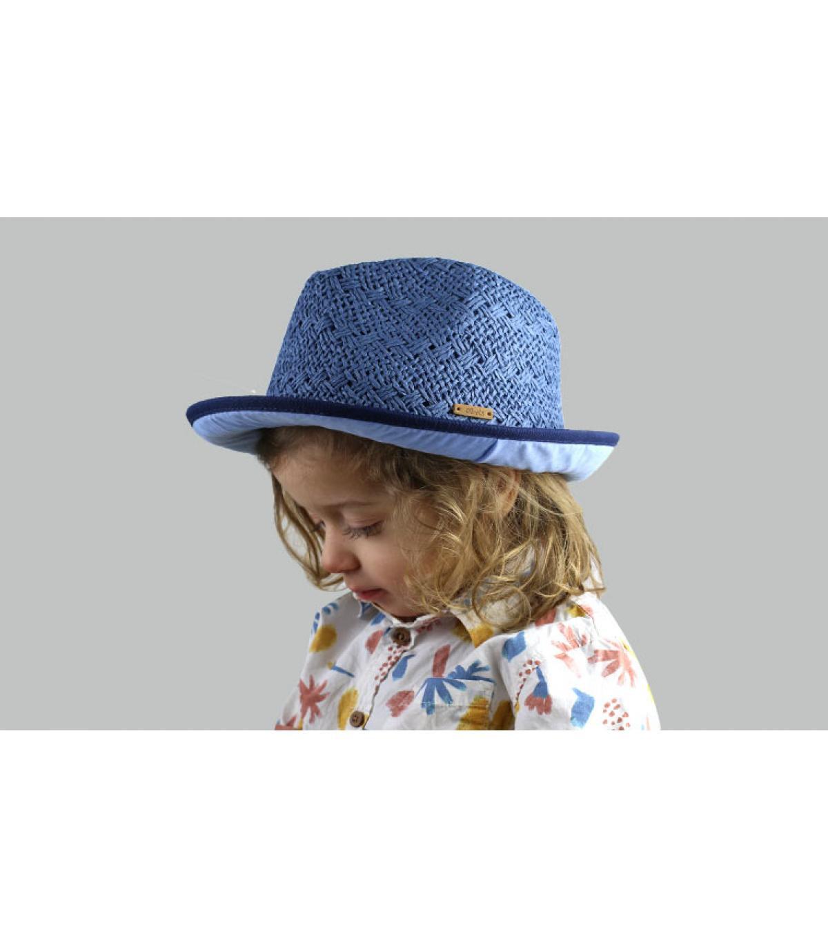trilby infantil azul