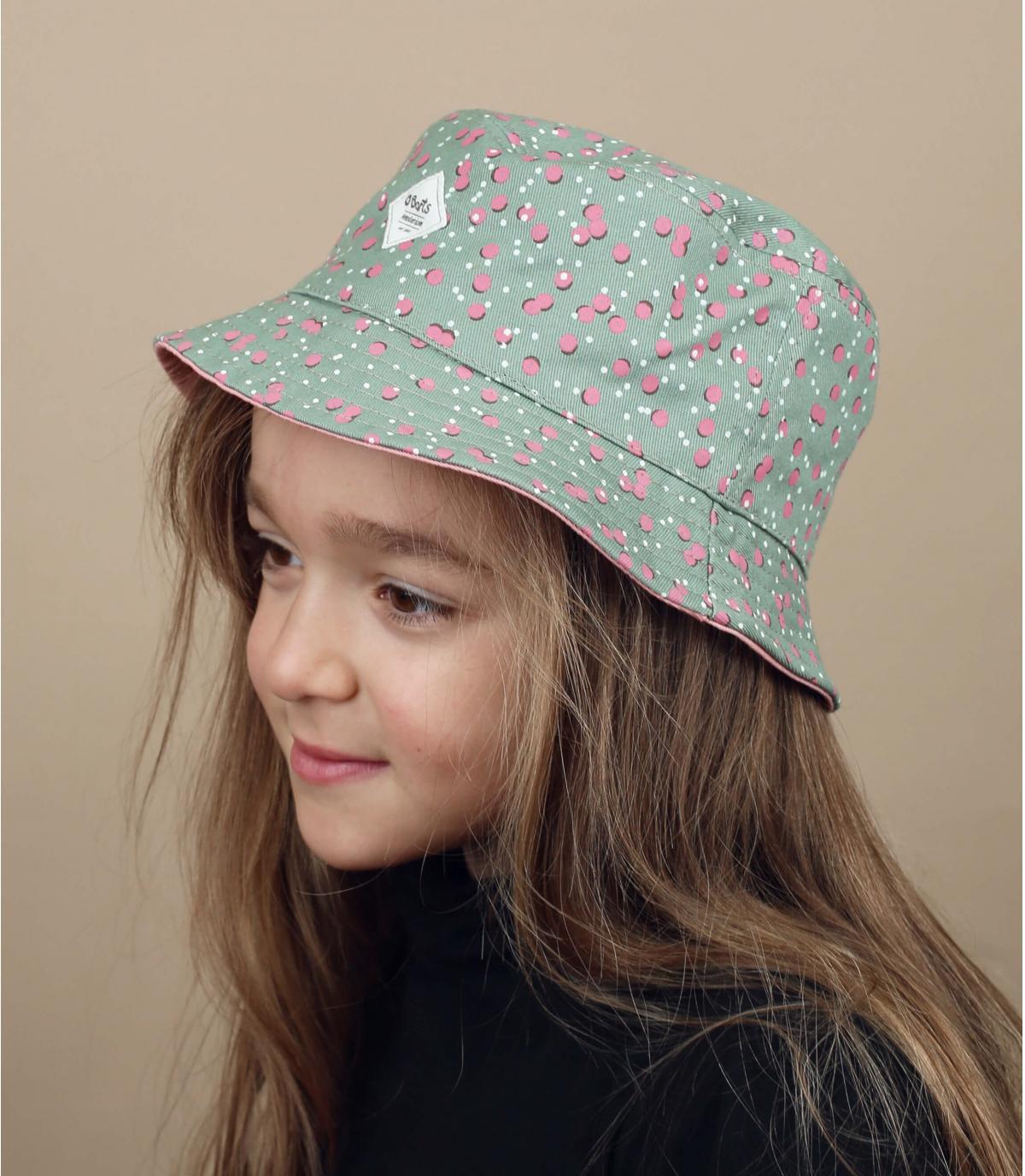 sombrero infantil gris rosa