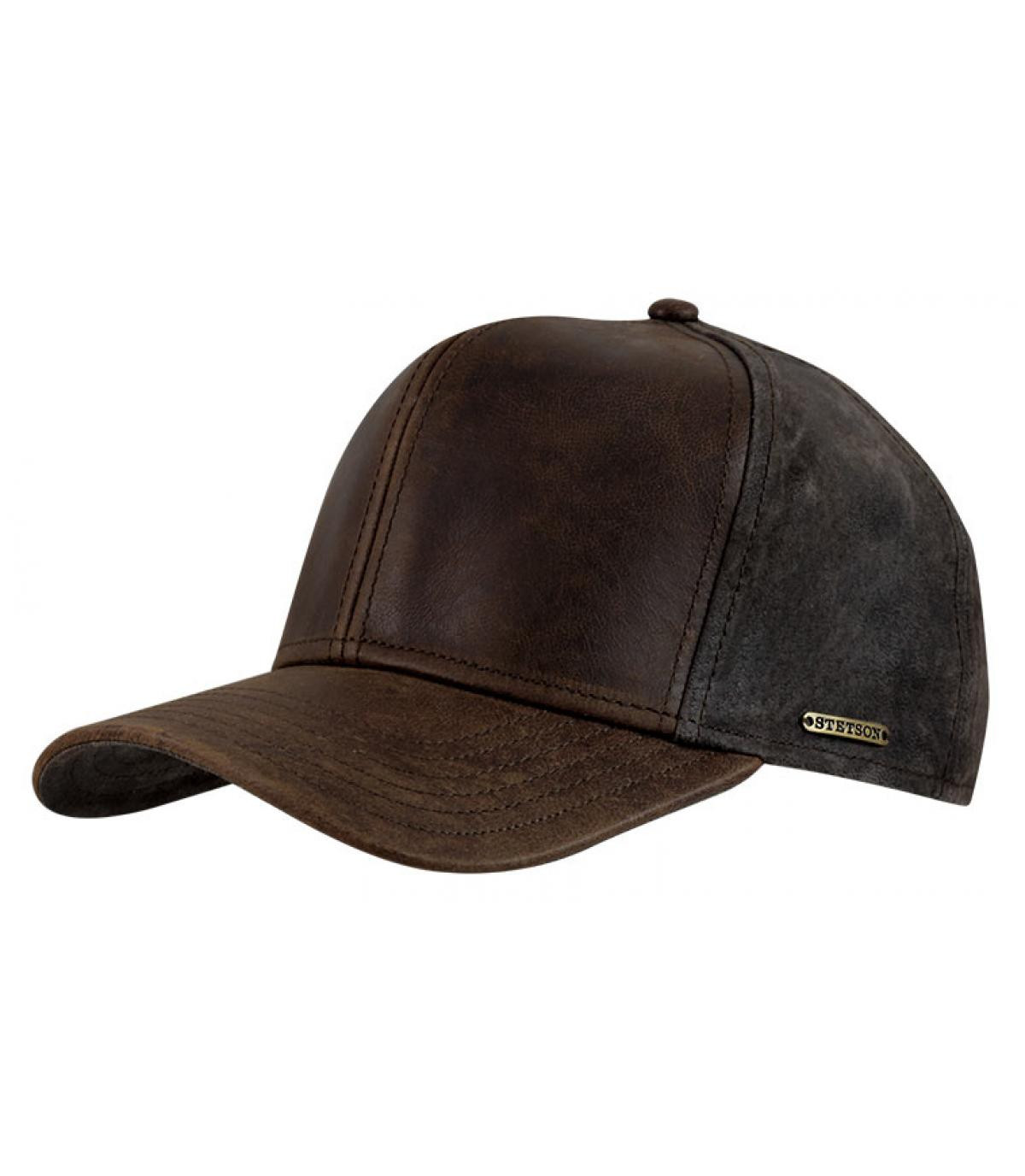 Gorra campbell cuir